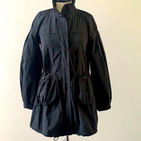 Burberry black nylon rain jacket